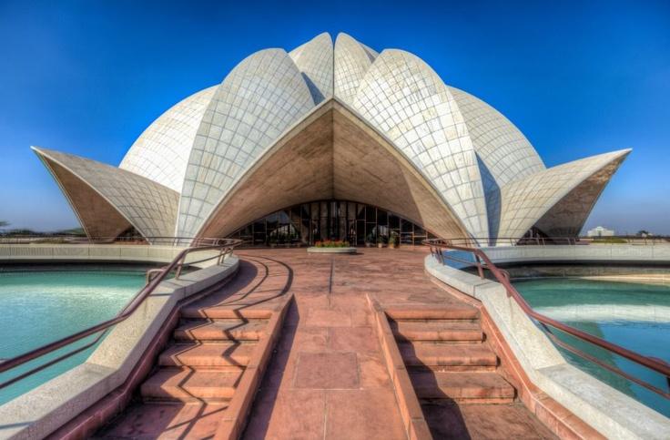 Lotus Temple, Delhi, India by Jason Perry. Beautiful shot.