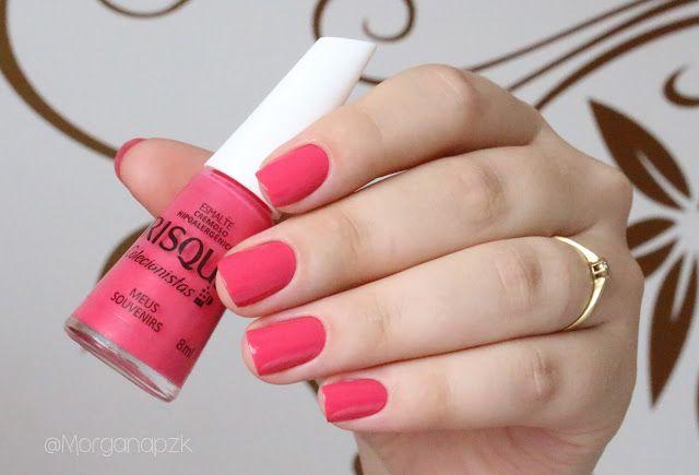 """Esmalte """"Meus Souvenirs"""" da Risqué    Coleção """"Colecionistas""""   Swatches   Pink Nails   Unhas Rosas   Chiclé   by @morganapzk"""