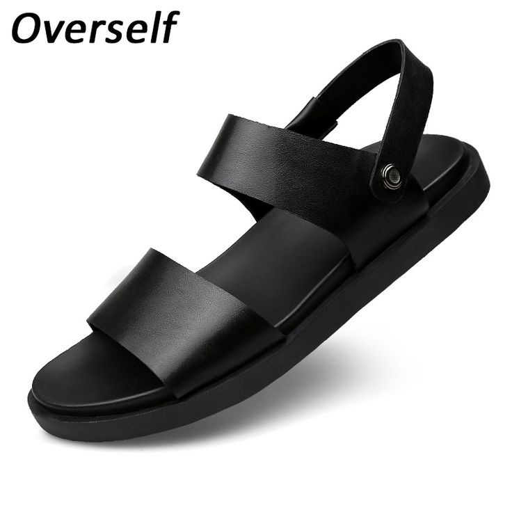 2017 Summer Men Sandals Shoes Breathable Beach Shoes Style Retro Gladiator Fashion Designers Leather Slippers For Men Zapatos #Affiliate
