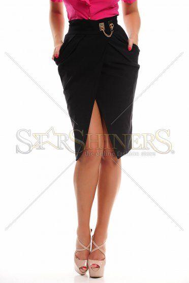 PrettyGirl Wise Blend Black Skirt