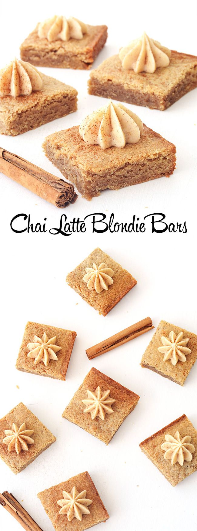 Chai Spiced Blondie Bars for all the chai latte and chai tea lovers out there - Sweetest Menu