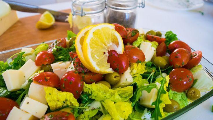 George's Vegetarian Cheese Salad - YouTube