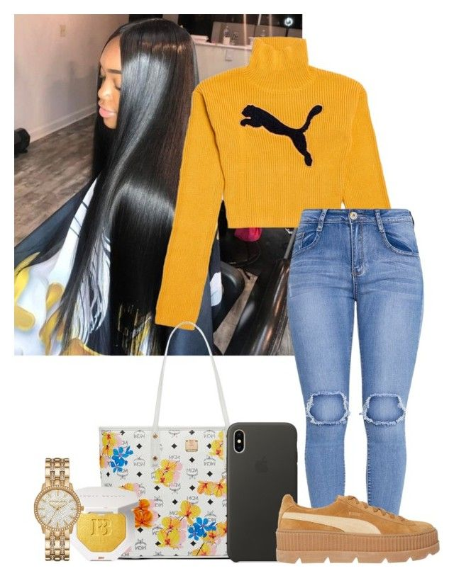 """""""☀️"""" by fashionqueenforevs on Polyvore featuring Puma, MCM and Michael Kors"""