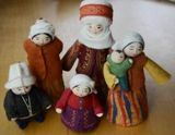 These handcrafted items were purchased from a Turkmen family in Istanbul. They are made of felt and vary in height. Each individual doll is unique with beautiful details. These dolls are perfect for any center pieces or additions to decor in the rooms of your home!