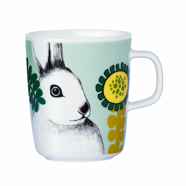 Puput Piilosilla mug, Mix. Mug for coffee or tea. Available at Royaldesign.com #marimekko #royaldesign #mug #easterrabbit #easter #spring
