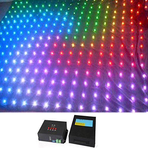YISCOR 3 mtr x 4 mtr P20 Matrix LED RGB DJ Party Garden Star Video Curtain Backdrop for Home Garden Birthday Party Christmas Xmas Disco Club Stage Effect