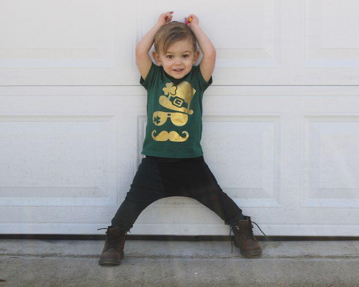 st patricks day shirt for kids, st pattys day tee, leprechaun kids shirt, cute st patricks day outfit