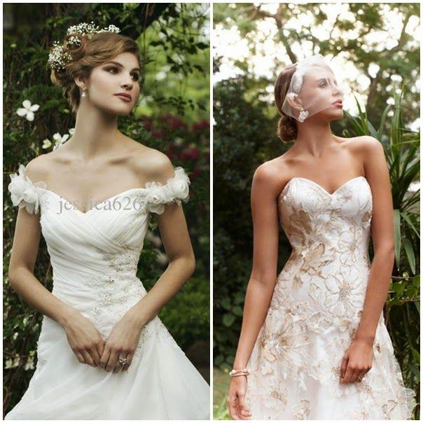 Cheap Garden A-Line Wedding Dress Off the Shoulders | For more detail visit our page www.weddingyuki.com