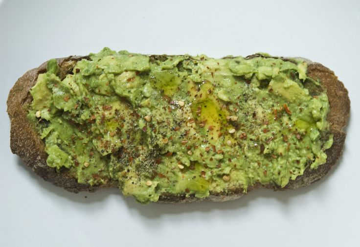 Avocado toast is a great way to start the day. Simply spread the ripe avocado on top of the bread, drizzle on some olive oil and sprinkle on a little bit of salt or a generous portion of pepper. #avocadotoast #breakfast