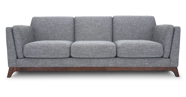 "999.00 83""W Ceni Coral Gray Sofa - Sofas - Bryght 