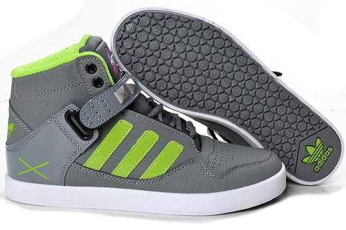 Adidas Shoes Grey And Green