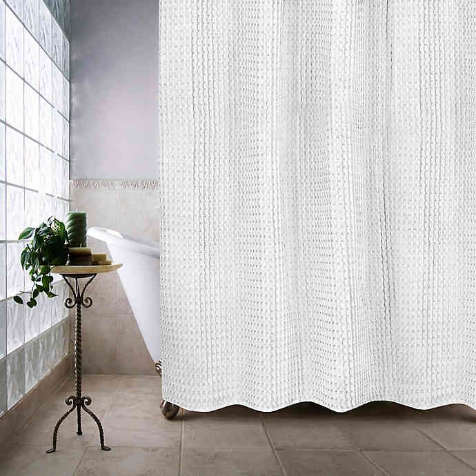 Haven Escondido Shower Curtain White Shower Curtain Long