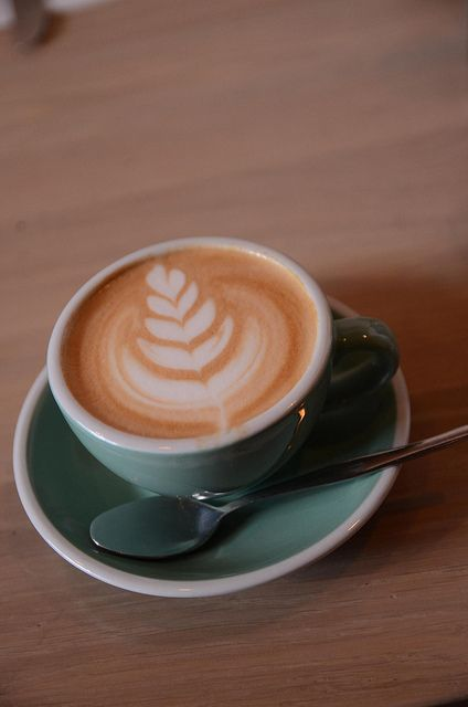 latte-art: (via Flat white coffee AUD3.80 -...