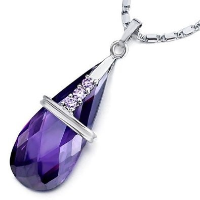 Amethyst Crystal Drop Pendant Retail $38.99 Our price $26.99!!!