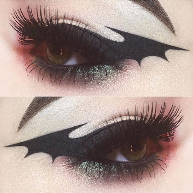 Bat wing eyeliner inspired by @kayteeellen