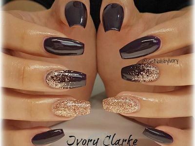 Golden black with a little glitter on top