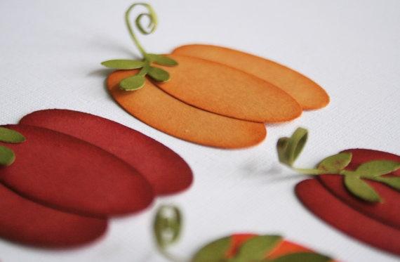 Halloween DIY pumpkin kit  pack of 30 by diecut4you on Etsy, $9.00