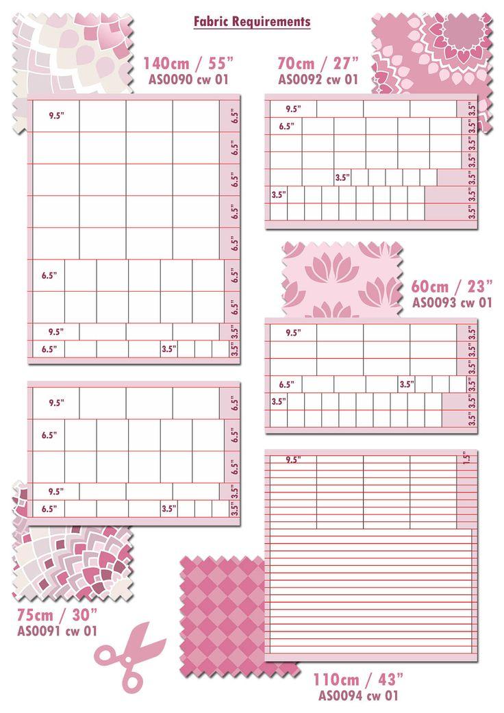 Lotus Quilt fabric requirements