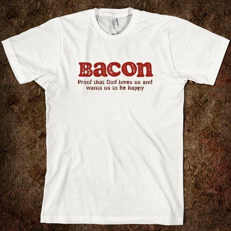 bacon merchandise   Bacon Shirt - Spreefit: Funny Graphic Tee Shirts - Skreened T-shirts ...