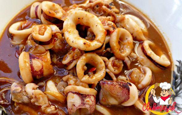 Resep Hidangan Lauk, Cumi Kuah Asam Manis, Club Masak