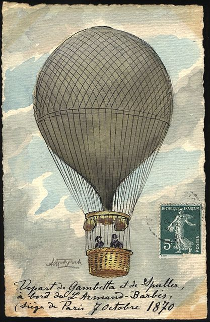 1870: Balloon Flight, Siege of Paris ~ A pigeon post was employed during the course of the Siege of Paris (1870–71), with pigeons being regularly taken out of Paris by balloon... During the four months of the siege, 150,000 official and 1 million private communications were carried into Paris by this method.""
