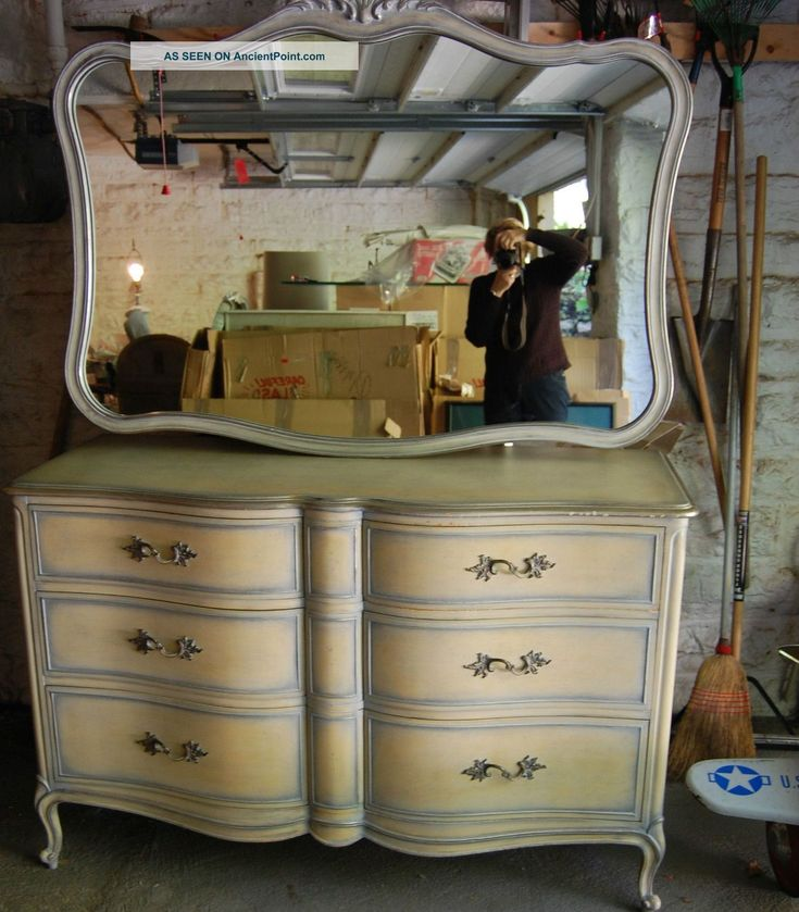 Bedroom Dresser French Provincial And Matching Mirror