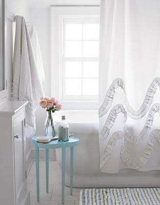 Love the Ruffled Shower Curtain!