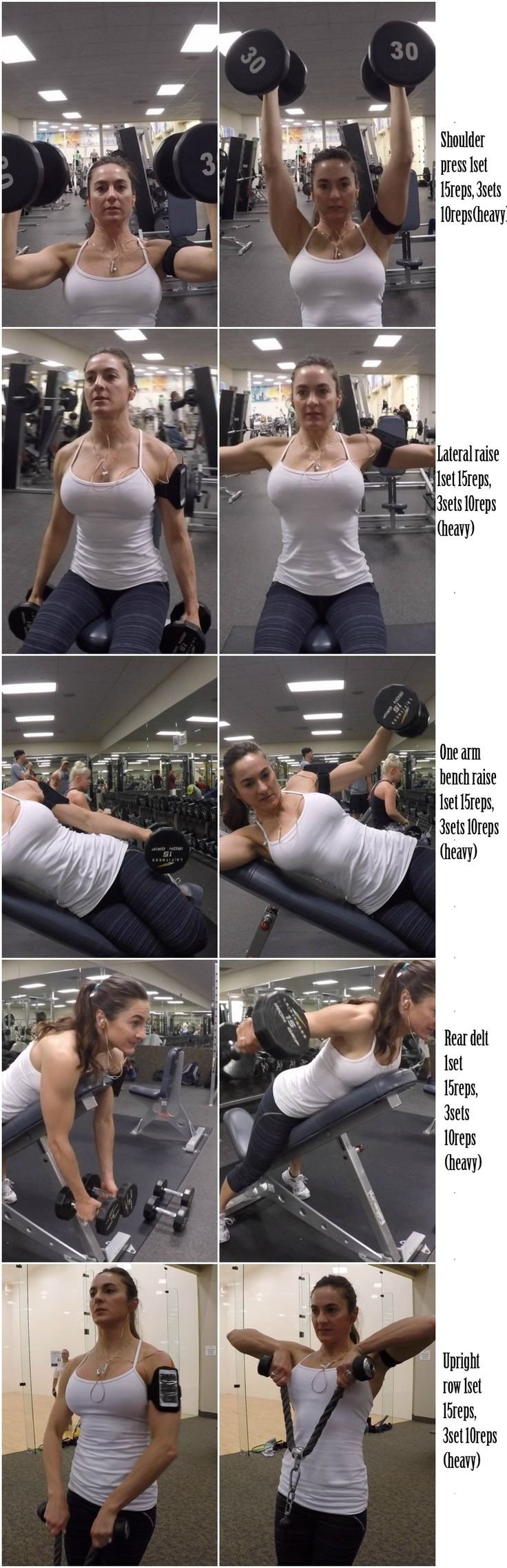 6 WEEKS SUMMERTIME SLIM DOWN: DAY 13: SHOULDERS (Cardio: 45 minutes on the stairclimber)