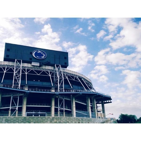 7/24/15 -- It's a Penn State morning with clear blue and white skies over Beaver Stadium.