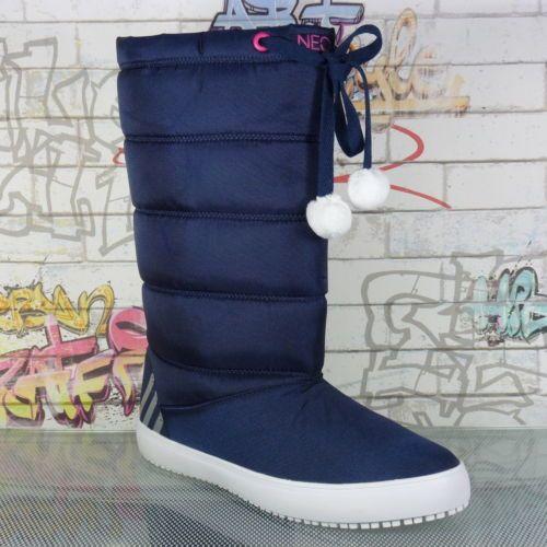 Neu-Adidas-Neo-seneo-Snowflakes-Damen-Madchen-Stiefel-Boote-Schuhe-Winter