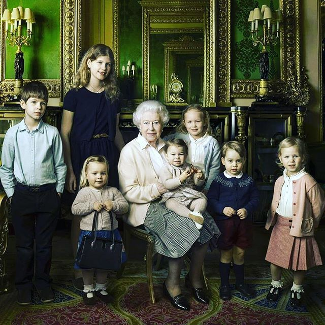 @Regranned from @royaladdicted2 - #royalbirthday Happy Birthday to James, Viscount Severn (17th December 2007)💙 . He turns 10 today🎂🎁🎈 . One of my favorite pictures ever: Queen Elizabeth with her two younger grandchildren, Louise and James, and her five great-grandchildren, Savannah, Isla, George, Charlotte and Mia💕 #britishroyalfamily #queenelizabeth #ladylouisewindsor #jamesviscountsevern #princegeorge #princesscharlotte #savannahphillips #islaphillips #miagracetindall #happybirthday…
