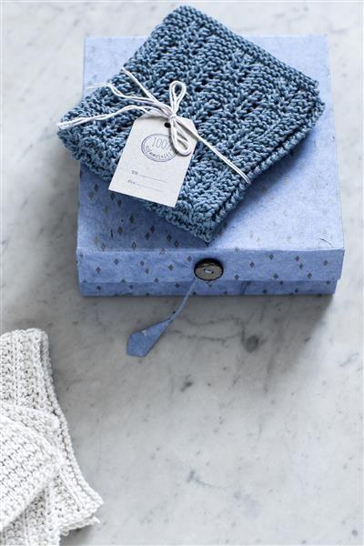 T44: Design 16 Klut med strukturmønster #bomull #cotton #strikk #knit #klut #washing