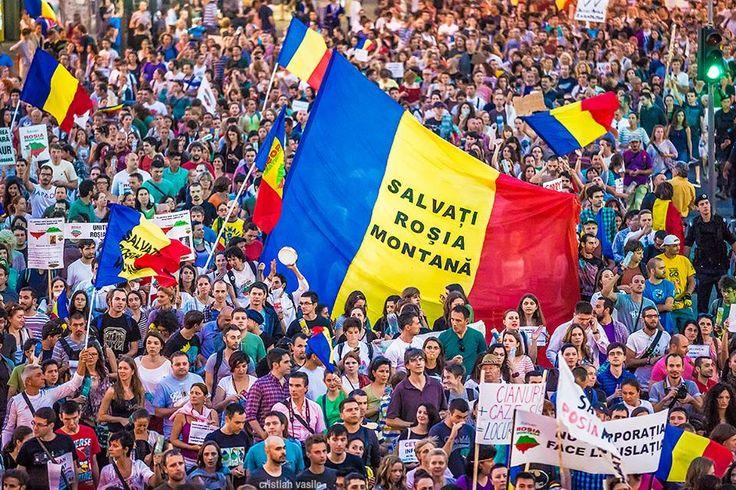 gigantic flag Save Rosia Montana