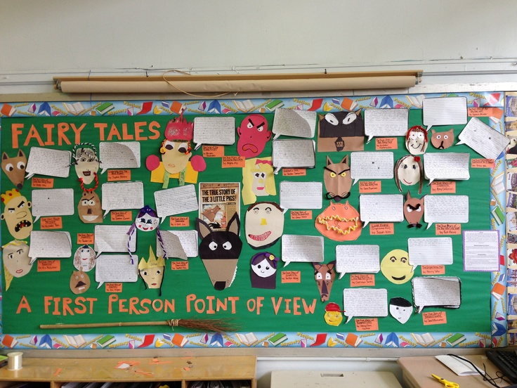 Fairy tales and point of view bulletin board