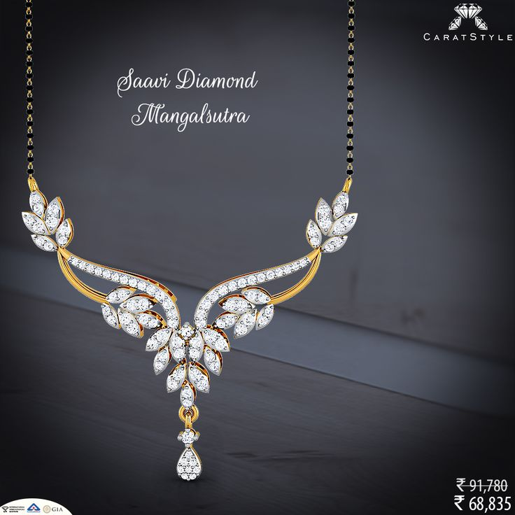 Women to personalize is to go in for a more artistic design and look. #mangalsutra #diamond  #haveanicesunday #fashionable #fashionstyle #exquisite #firstclass #shopping #perfect #embrace #embracelove