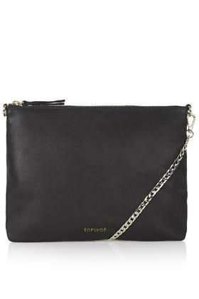 Leather Chain Crossbody Bag