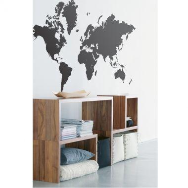 Naklejka-Mapa świata
