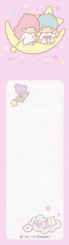 Sanrio 100 Characters Memo - Little Twins Stars