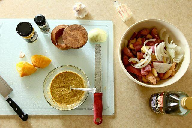 mustard roasted new potatoes | food | Pinterest