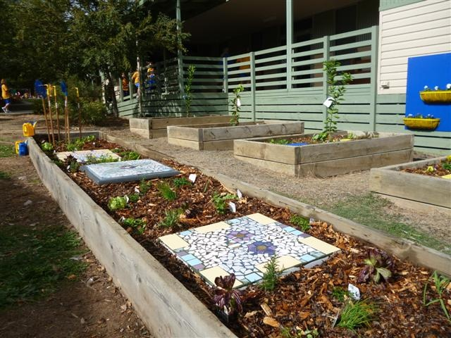 Reused the mosaic stepping pavers....the Italian herb garden