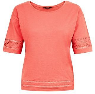 Womens coral t-shirt from New Look - £9.99 at ClothingByColour.com