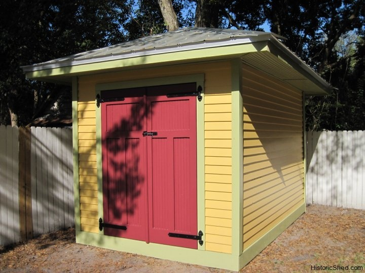 8x12 hipped roof garden storage shed by historic