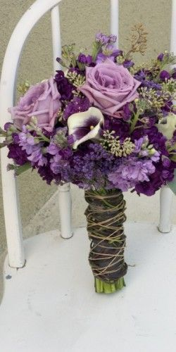 purple lavender earthy bouquet with roses - very similar to what I carried on my wedding day - Picmia