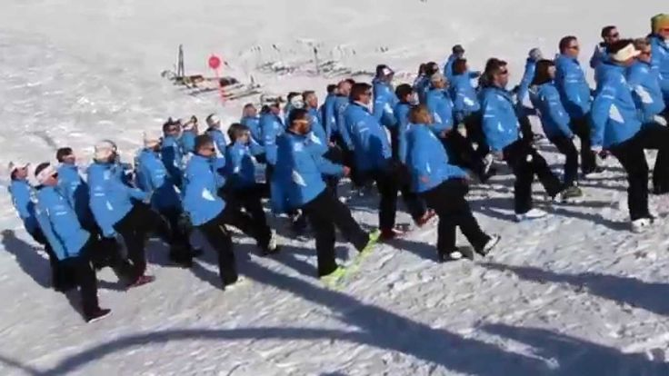 The highest Flash Mob ever performed!  By ski instructors from Trentino (Dolomites) - Italy.