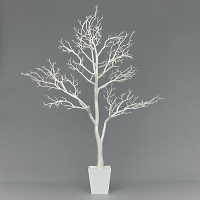 Buy John Lewis Glitter Christmas Tree, White, 6ft online at JohnLewis.com - John Lewis