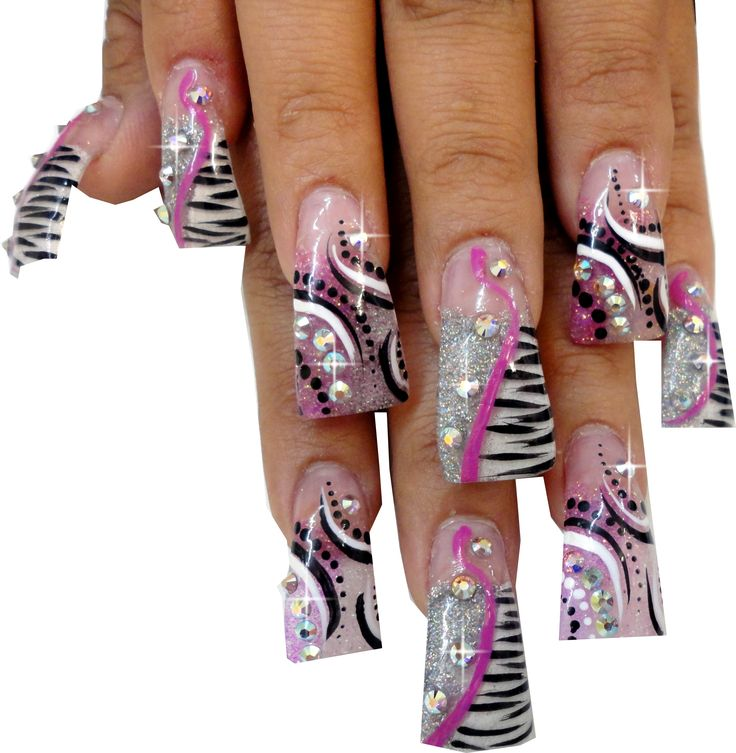fan tip nails | ... Gomez from Sheba Nails using the Crystal Clear Duck Flare Nail Tips