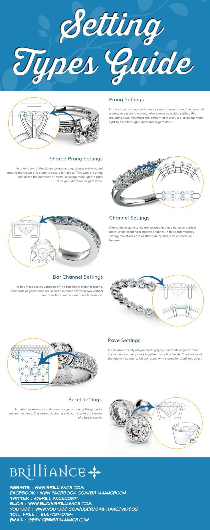 At Brilliance, Our Master Jewelers Use A Variety Of Expert Setting  Techniques To