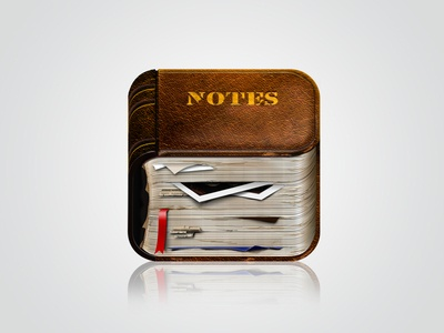 Notebook old iOS Icon
