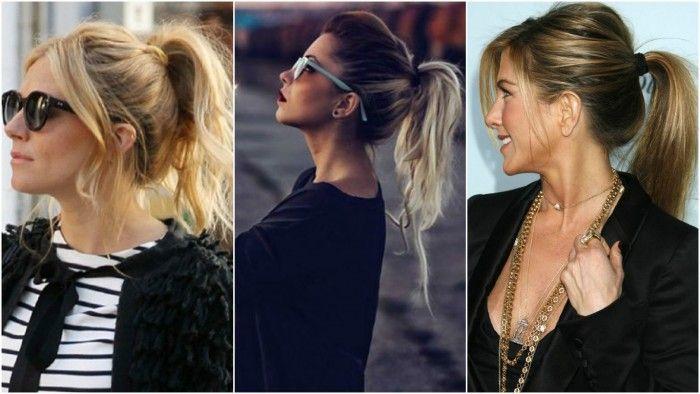 """O penteado da vez é o rabo de cavalo bagunçado. Tem saído tanto em festas, como nas ruas e nas passarelas, mulheres de rabo de cavalo com aquele aspecto """"eu que fiz"""", bagunçado mesmo. Acho que elas cansaram um pouco daquele arrumadinho perfeito e decidiram facilitar o penteado, com algo moderno e estiloso, que é o rabo de cavalo."""