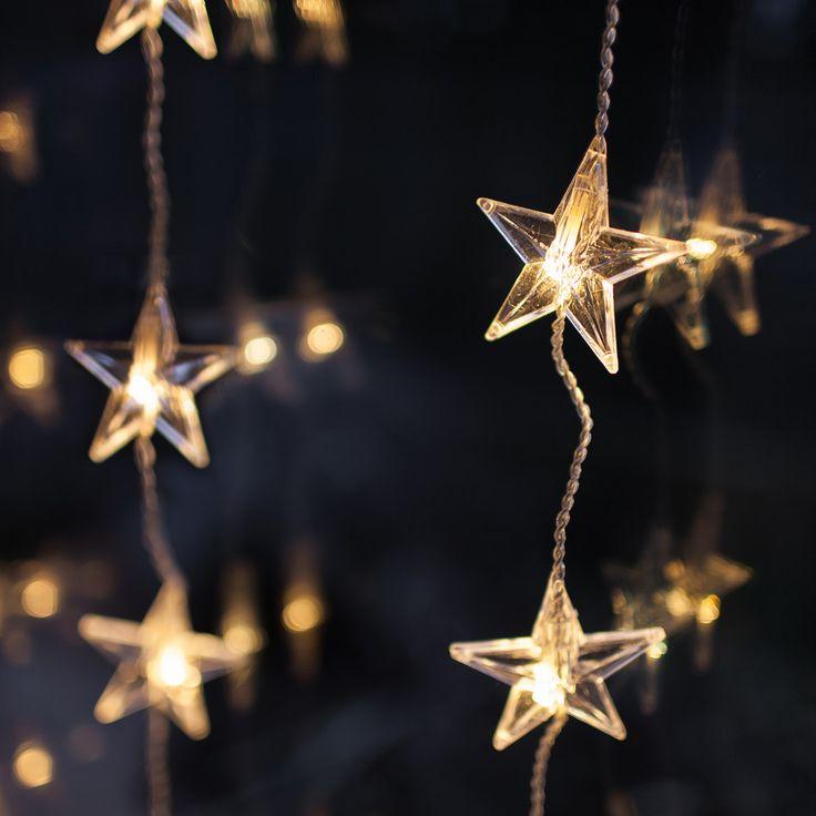 40 LED Warm White Star Christmas Window Light